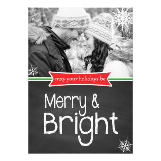 Carte plate de joyeuses vacances lumineuses de carton d'invitation