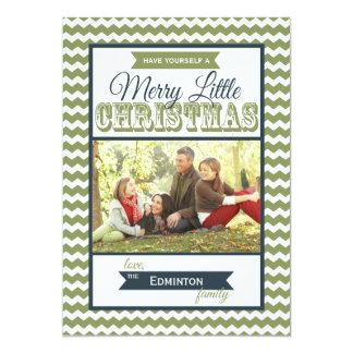 Carte plate de Joyeux petit Noël de Chevron Faire-part Personnalisés