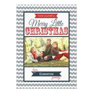Carte plate de Joyeux petit Noël de chevrons