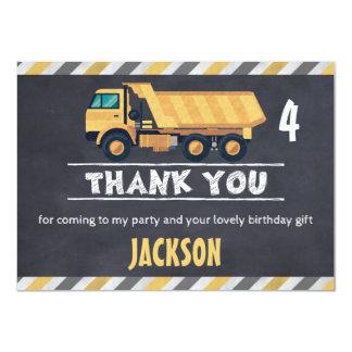 Carte plate de Merci de camion de construction de