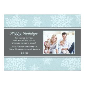 Carte plate de neige de vacances givrées d'automne carton d'invitation  13,97 cm x 19,05 cm