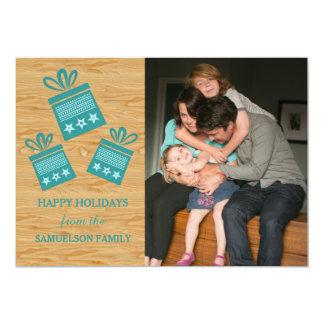 Carte plate de présents de photo rustique carton d'invitation  12,7 cm x 17,78 cm