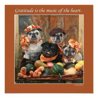 Carte plate de thanksgiving de carlin adorable