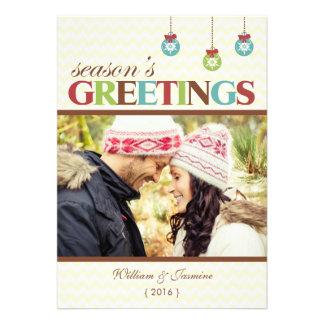 Carte plate de vacances de Chevron de Joyeuses Fêt