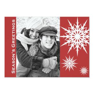 Carte plate de vacances de neige de Bonnes Fêtes Carton D'invitation 12,7 Cm X 17,78 Cm