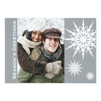 Carte plate de vacances de neige de Bonnes Fêtes Faire-part Personnalisables