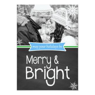 Carte plate de vacances lumineuses assez joyeuses faire-parts