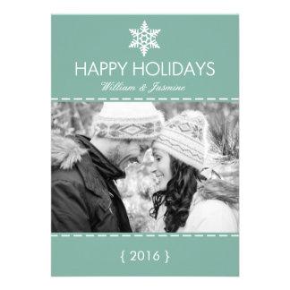 Carte plate de vacances turquoises modernes de flo