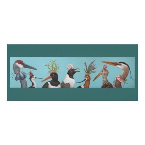 Carte plate d'oiseaux d'eau invitation personnalisable