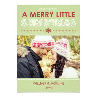 Carte plate du Joyeux petit Noël 2014 moderne Carton D'invitation 12,7 Cm X 17,78 Cm