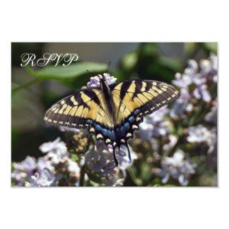 Carte plate du papillon RSVP de machaon de tigre
