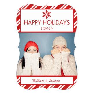 Carte plate formée de vacances de photo de sucre cartons d'invitation personnalisés