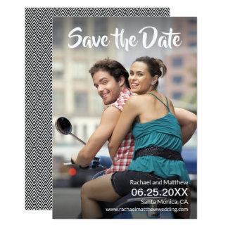 Carte Pleines économies de mariage de photo la date