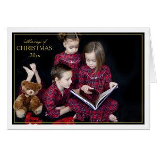 Carte pliée par bénédictions encadrée de Noël
