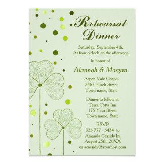 Carte Pois de shamrock épousant le dîner 2 de répétition