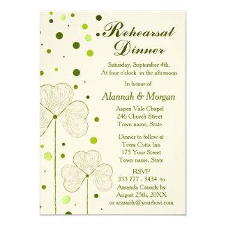 Carte Pois de shamrock épousant le dîner de répétition