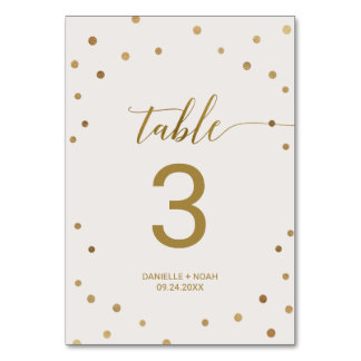 Carte Pois d'or épousant le nombre de Tableau