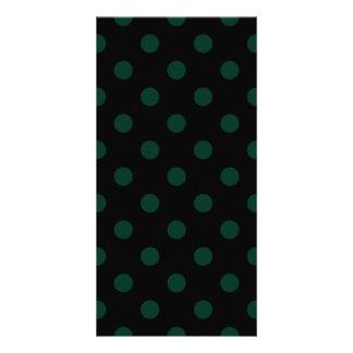 Carte Pois - vert-foncé sur le noir