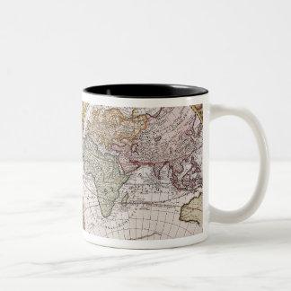 Carte polaire de double hémisphère mug bicolore