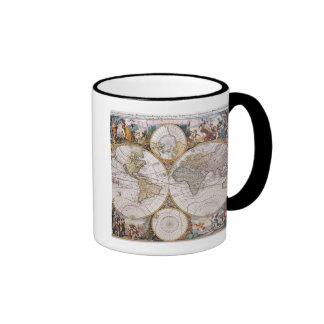 Carte polaire de double hémisphère mug ringer