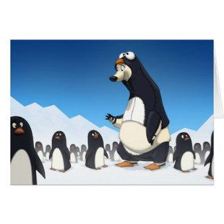 Carte polaire de pingouin (blanc à l'intérieur)