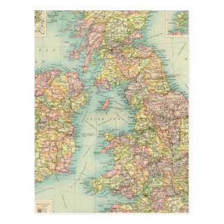 Carte politique d'îles britanniques carte postale