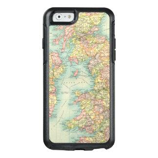 Carte politique d'îles britanniques coque OtterBox iPhone 6/6s