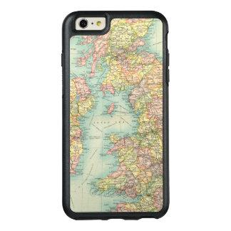 Carte politique d'îles britanniques coque OtterBox iPhone 6 et 6s plus