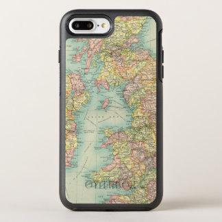 Carte politique d'îles britanniques coque OtterBox symmetry iPhone 8 plus/7 plus