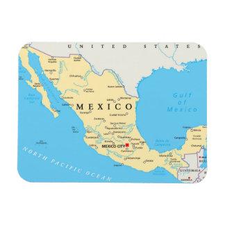 Carte politique du Mexique Magnet Flexible