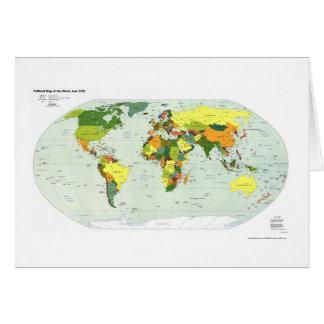 Carte politique du monde - 1998