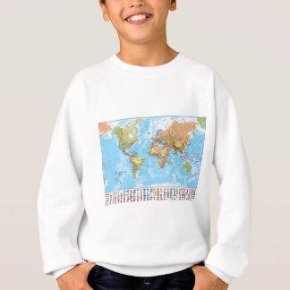 Carte politique du monde avec des drapeaux sweatshirt