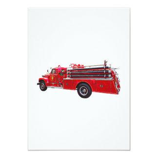 Carte Pompe à incendie vintage d'ouvrier chargé des