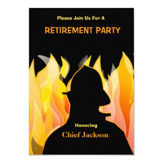 Carte Pompier/chef des pompiers d'invitation de retraite