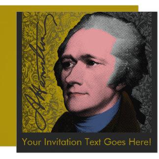 Carte Portrait d'art de bruit d'Alexander Hamilton