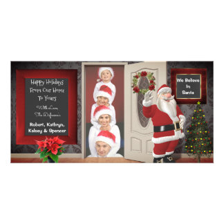 Carte Pose avec Noël de Père Noël