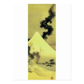 Carte Postale 富士と昇龍, 北斎 le mont Fuji et dragon, Hokusai, Ukiyo-e