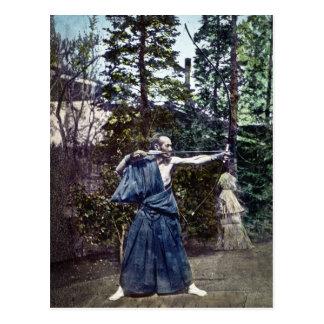 Carte Postale 射手 vintage d'Archer de Japonais