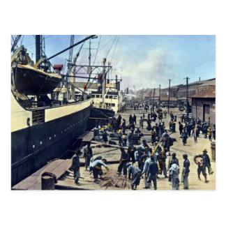 Carte Postale 横浜港 vintage d'expédition du Japon de port de