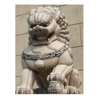 Carte Postale 石獅 femelle chinois de chien de Foo de lion de