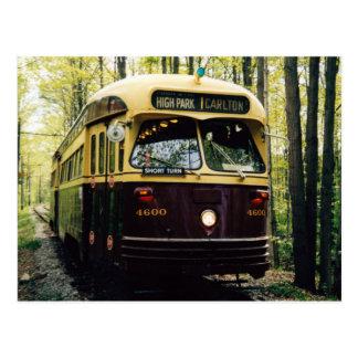Carte postale 001 de Toronto de transit - forêt de