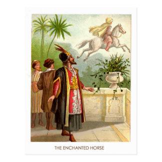 Carte Postale 1001 mille et une nuits : Le cheval enchanté