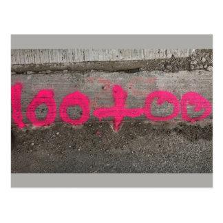 Carte Postale 100+00 enquêtes/stationnement de construction -