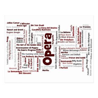 Carte Postale 100 plus grands opéras