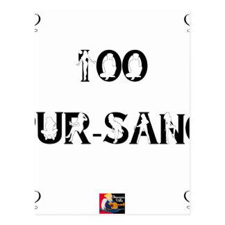 Carte Postale 100 PUR-SANG - Jeux de Mots - Francois Ville