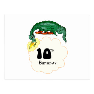 Carte Postale 10ème Dragon d'anniversaire