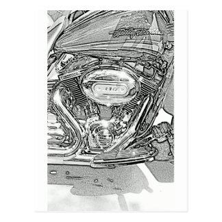 Carte Postale 110 Eagle criards Harley Davidson