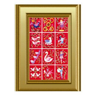 Carte Postale 12 jours de Noël