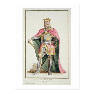 Carte Postale 1379-1416) rois de Ferdinand I (d'Aragon de 'Receu