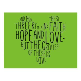 Carte Postale 13h13 de Corinthiens de l'amour 1 d'espoir de foi